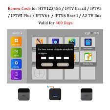 Renew Code Brazil TV Box Activation Code for HTV IPTV5 6 Plus / A2 TV Box  Brazil Brazilian TV Box Subscription Service Valid for 400 Days- Buy Online  in Bosnia and Herzegovina
