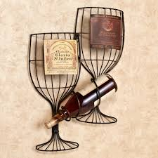 interior metal wine holder for wall with artificial gles home decorations wine cork
