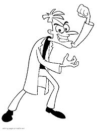 Small Picture Phineas and Ferb coloring pages