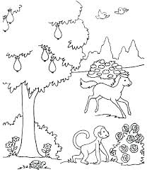 Coloring Pages Thanksgiving Free Animals Dltk Bible Betterfor