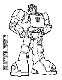 Amazing Bumblebee Of Transformers Coloring Page Download Print