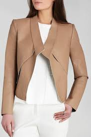 bcbg max azria lloyd faux leather jacket front cropped image