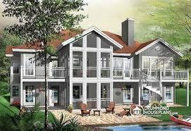 drummond house plans. Modren Plans Drummond House Plans  W3924 5 Bedroom Modern Cottage Walkout Basement  Screened With L