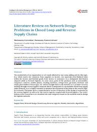 Network Design Paper Pdf Literature Review On Network Design Problems In Closed