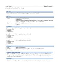 Simple Resume Format Free Download In Ms Word Simple Resume Format Free Download In Ms Word Resume Format For Ms 5