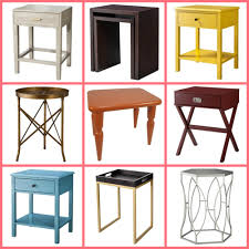elegant target threshold accent tables clockwise from top left faux snakeskin accent table nesting tables windham side table yellow with threshold accent
