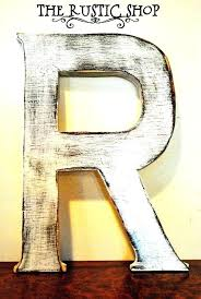 large decorative wooden letters best r images on crafts initials and letter monogram for nursery wall