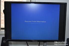 Windows 8 resume from hibernation
