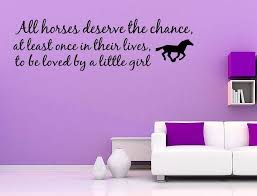 wall decor sayings beautiful love horse girls western vinyl wall e decal home decor