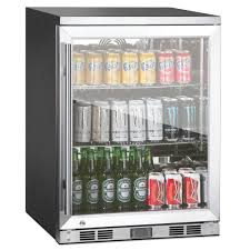 com 1 door front venting full stainless steel bar fridge with under refrigerator glass and
