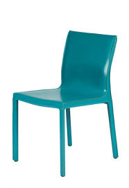 kb gale modern leather chair turquoise