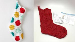 Crochet Stocking Pattern Delectable Hexagonal Granny Christmas Stocking Tutorial The Crochet Crowd