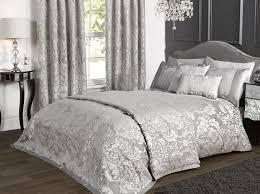 image of luxury grey king size quilt set