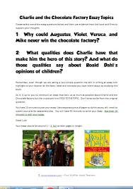 charlie the chocolate factory teaching resources  essay topics jpg