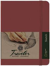 pentalic art traveler pocket journal sketch book 8 x 6 burgundy