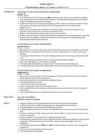 Sample Resume For Accounting Manager Accounting Manager Supervisor Resume Samples Velvet Jobs