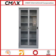 filing cabinet full height cupboard with glass sliding door cmax sc003