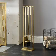 modern fireplace accessories cb2 within tools inspirations 4