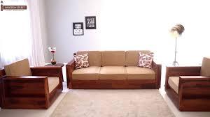 Wooden Sofa Set Buy Marriott Wooden Sofa Set in Honey Finish