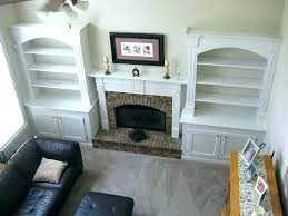 built ins around fireplace terior diy in shelves beside