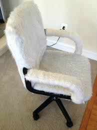 decorative office chair faux fur desk chair beautiful decoration also full size of with faux fur