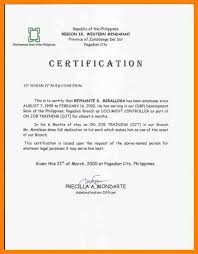 Certificate Of Employment And Compensation Format Ender Altypark