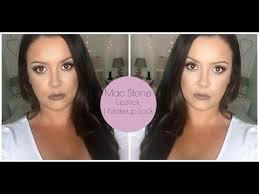 a real un edited makeup tutorial mac stone lipstick makeup look you