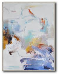 large abstract painting canvas art