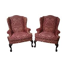 Chippendale Furniture Quality Pair Of Chippendale Style Ball Claw Foot Mahogany Wing