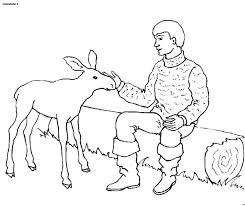 Persone Con Animali Immagine Da Colorare N 5500 Cartoni Da Colorare