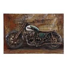 3d bsa motorbike oil painting print on metal on motorbike metal wall art uk with motorbike metal wall art wayfair uk