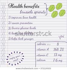 health benefits of brussels sprouts nutrition facts infographics hand drawn health benefits
