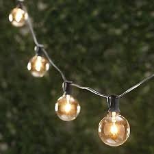 light bulb string lights round party string lights ft length with within outdoor light bulbs decor