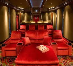 Small Picture Amusing Home Theater Room Design Decorating Ideas With Red Sofa