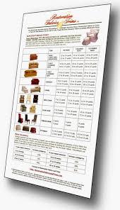 Slipcover Price Chart Slipcover Yardage Chart Restoration Fabrics Trims