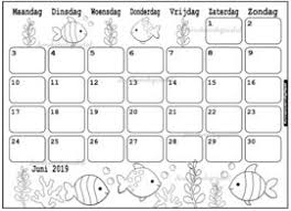 Kalender 2017 Kleurplaat November December