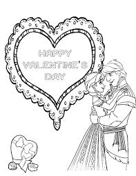 frozen valentines day coloring page