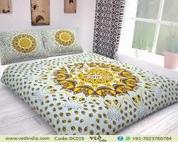 mandala bed comforter set king size with leaf pattern zoom