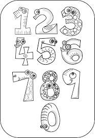 numbers drawing at getdrawings free for personal use stunning number coloring book