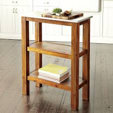 ampamp prep table: with its mango wood surface and steel pipe legs the rustic industrial kitchen island doubles as a prep station and social gathering spot