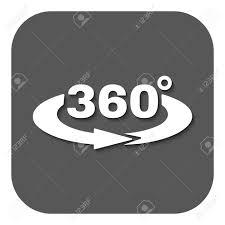 角度 360 度アイコン回転記号ですフラットのベクター イラストですボタン