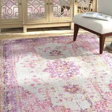 pink and gray area rug for nursery