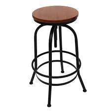wood metal bar stools. Vintage-Urban-Bar-Stool-Industrial-Retro-Adjustable-Height- Wood Metal Bar Stools W