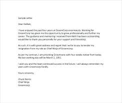 How To Write 2 Week Notice Resignation Letter Sample 2 Weeks Notice Template Doc File