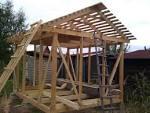 Как построить двухскатный сарай