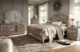 King Size Bedroom Sets At Big Lots Birlanny Silver Upholstered Panel ...