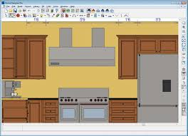 Home Design Software With Kitchen Plan Brown Cabinet And Stainless Steel  Appliances On Program