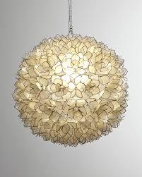 neiman marcus capiz shell 1 light pendant