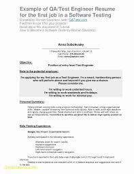Software Testing Resume Format For Experienced Lovely Example