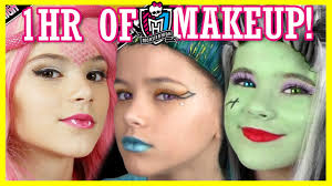 1 hour of monster high doll makeup tutorials costume or cosplay kittiesmama